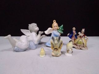 lot of small glass figurines