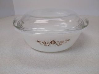 dynaware pyr o rey Brown Daisy dish with lid