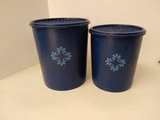 navy blue servalier canisters with lids