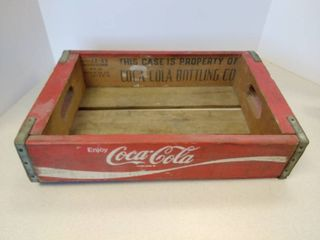 Coca Cola Red Wood crate case