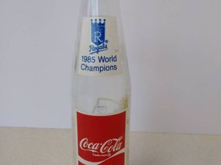 Coca Cola 1985 Royals World Champions commemorative bottle