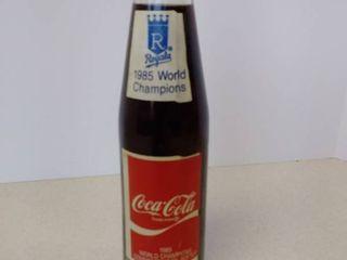 Coca Cola 1985 World Champions commemorative bottle