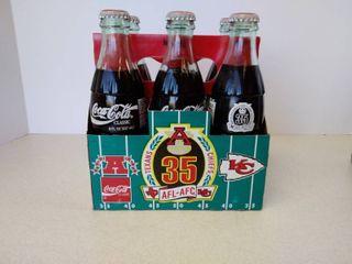 Coca Cola 6 pack bottle set Texans vs Chiefs