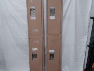 2 locker doors