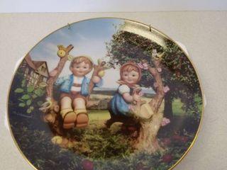 Hummel apple tree boy and girl plate