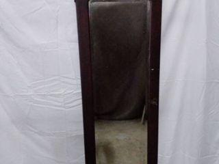 vintage armoire door with mirror