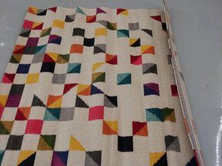 nuloom 4 6 x5  multi color triangle rug