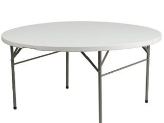 60  Round Bi Fold Granite White Plastic Folding Circular Folding Table