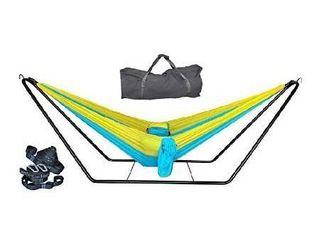 Sky blue golden hammock