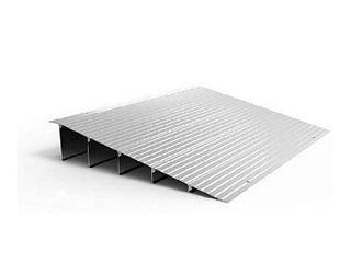 ez access transitions modular aluminum entry ramp 5  rise