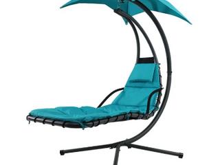 Sunnydaze devour Floating Chaise chair   teal