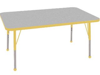 Table 24 x 48 Rectangle grey nebula  yellow edge band    No legs