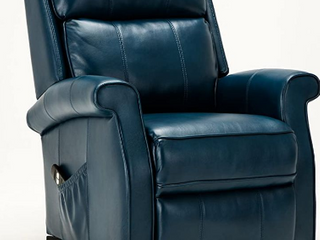 Source One Walter Navy Blue Traditional Recliner   lift Chair