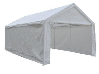 Abba Patio 12  x 20  car canopy White    Uninspected
