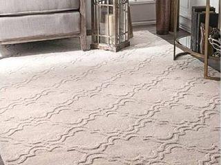 nulOOM Wilhelmina Hand Tufted Wool Rug  6 x9  Cream