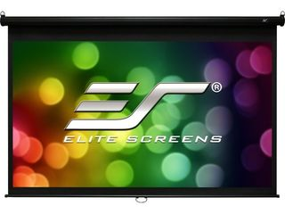 Elite Screens Manual B Series  120 inch Diagonal 4 3  Pull Down Projection Manual Projector Screen with Auto lock  M120V DAMAGED