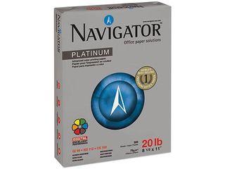 Navigator Platinum Paper  99 Brightness  20 lb   White  5000 Per