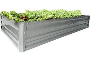 zizin Galvanized Raised Garden Beds Metal Elevated Planter Box Steel large Vegetable Flower Bed Kit  6 A3 A1 ft  Amazon sChoicefor  raised bed