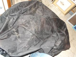 large Black Canvas Storage Bag w  Zipper and large lawn Bag w  Handles