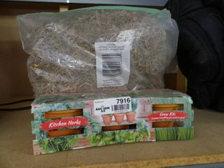 Kitchen Herb Grow Kit and Bag of Spanish Moss