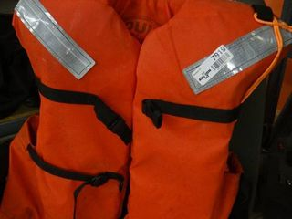 Adult Sized Orange life Jacket