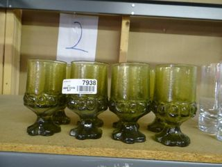 Set of 8 Green Glasses