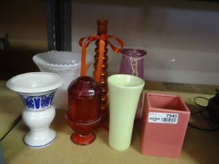 lot of 7 Misc Vases
