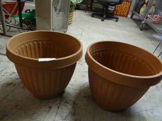Two Plastic Potters