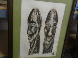 Signed African Bust Artwork