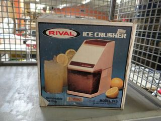 Vintage Rival Table Top Ice Crusher