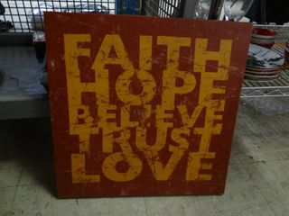Faith  Hope  Believe  Trust   love Sign