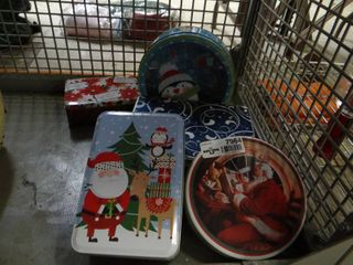 lot of Holiday Tins