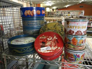 lot of Various Cookie Tins