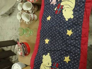 2 Pooh and Piglet Christmas Table Runners