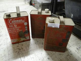 lot of 3 Coleman Fuel Cannisters  All Mostly Full