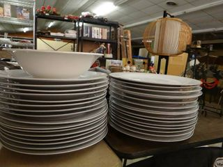 lot of 30 Matching White Plates