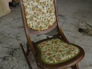 Vintage Wooden Folding Rocking Chair