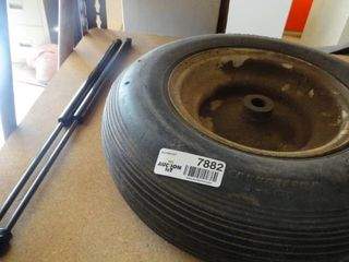 Wheel Barrow Spare Tire and Two lift Supports