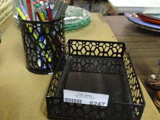 Mail Organizer with Matching Pencil Holder