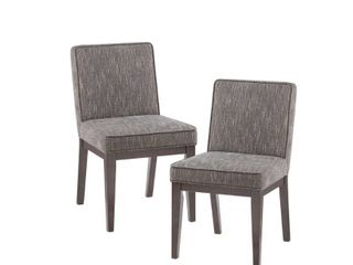 Madison Park Syracuse Brown Dining Chair  Set of 2    20 w x 25 d x 34 75 h  Retail 197 99