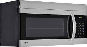lg microwave oven 1 7 cu ft over the range stainless steel