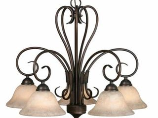 Golden lighting s Homestead Bronze finished Steel 5 light Nook Chandelier  Retail 195 00