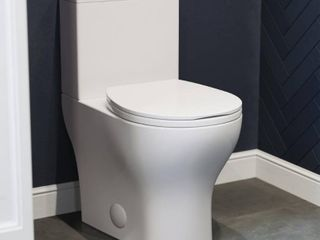 Sublime II Compact 24  length Two Piece Toilet Dual Flush 0 8 1 28 GPF  Retail 356 45 2 boxes