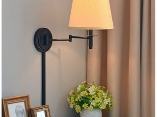 Copper Grove leyden Blackened Oil Rubbed Bronze 14 inch Wall Swing Arm lamp