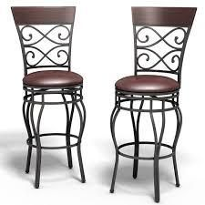 Copper Grove Esperance Swiveling Vintage Bar Chairs with Padded Seats  Set of 2  Retail 156 99 brown