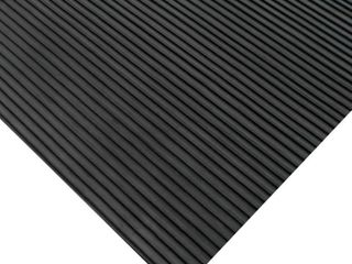 Rubber Cal Ramp Cleat Traction Mat 1 8 inch x 3ft  Wide Rubber Runner Black 7 ft long
