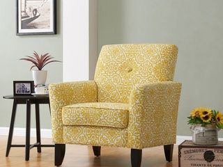 Handy living Alex Gold Damask Arm Chair  Retail 379 99
