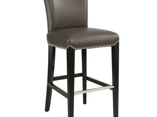 Abbyson Century 30 inch Grey leather Bar Stool   Retail 356 99