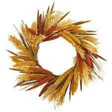 25  Sorghum Harvest Artificial Wreath