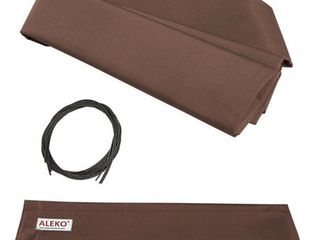AlEKO 13 x10  Retractable Awning Fabric Replacement  Brown Color